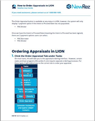 How to Order Appraisals in Lion