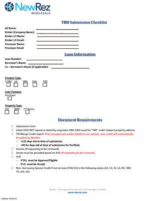 TBD Submission Form